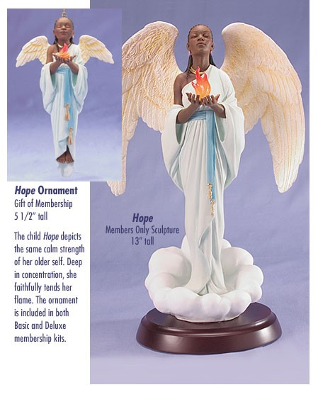 Ebony Visions Hope - Deluxe  Blackshear Circle 2006 Membership Figurine And Kit