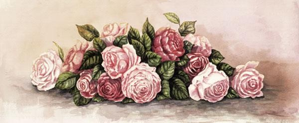 Gamboa Antique Roses Giclee