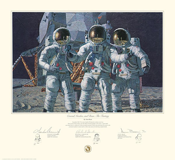 Alan Bean CONRAD GORDON AND BEAN THE FANTASY Print