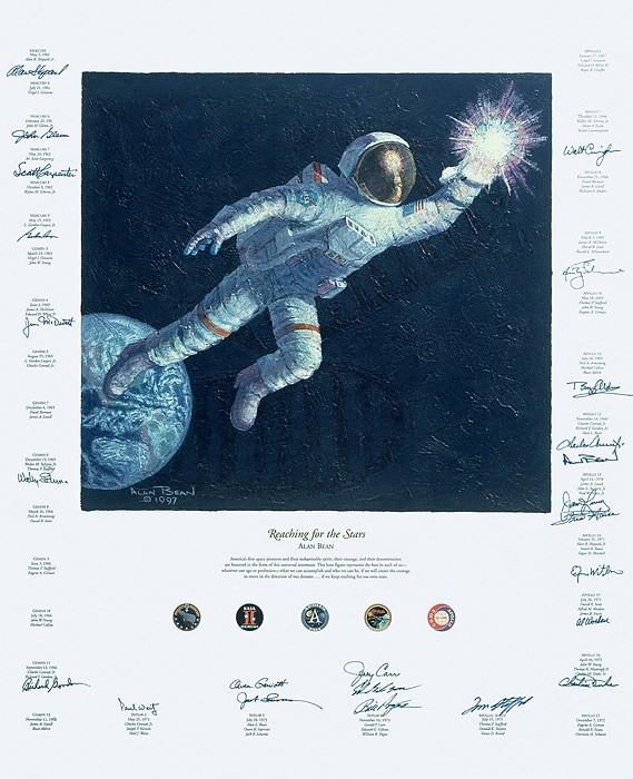 Alan Bean REACHING FOR THE STARS Canvas