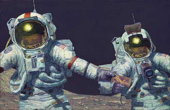 Alan Bean RIGHT STUFF FIELD GEOLOGISTS Limited Edition Print