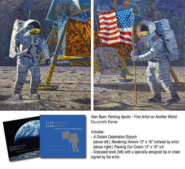 Alan Bean Painting Apollo First Artist on Another World COLLECTOR BOOK WITH Canvas
