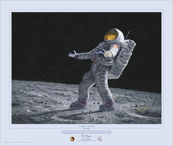 Alan BeanIs Anyone Out There Limited Edition MasterworkGiclee On Canvas