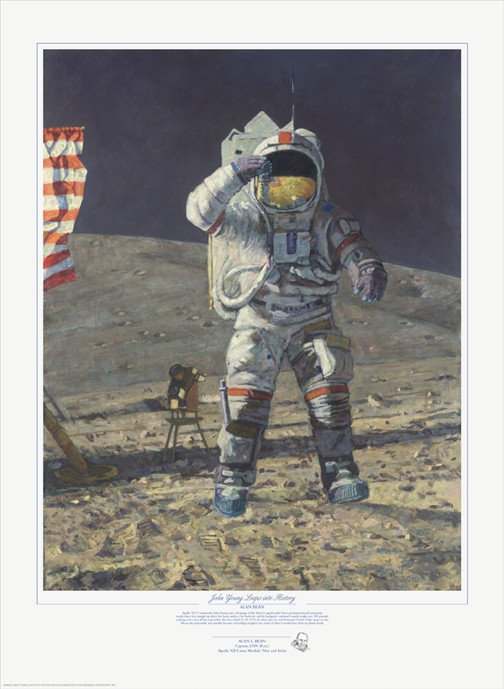 Alan Bean John Young Leaps into History Limited Edition Print