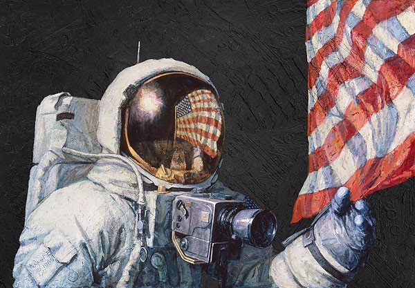 Alan Bean Beyond A Young Boys Dream Canvas