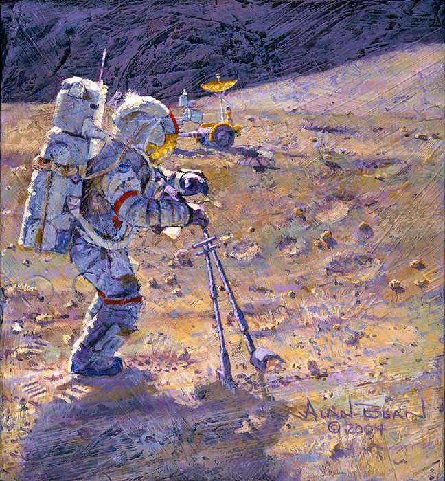 Alan Bean Some Tools of Our Trade SMALLWORK EDITION ON Canvas