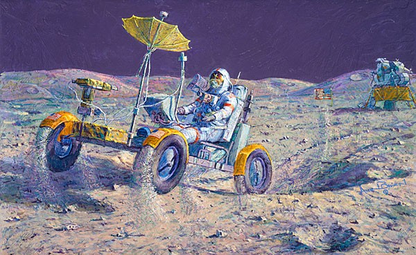 Alan Bean Lunar Grand Prix Canvas