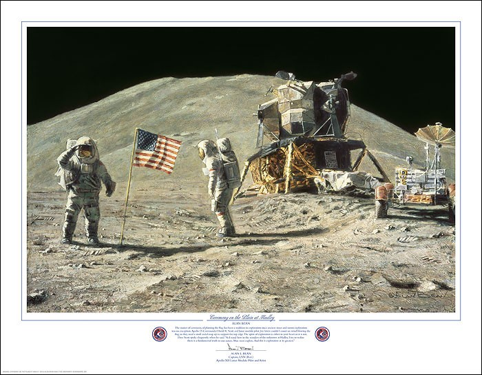 Alan Bean Ceremony on the Plain at Hadley Print