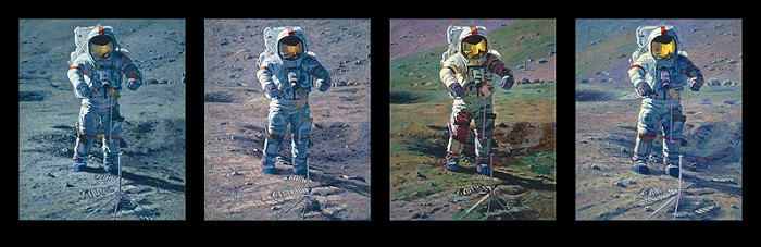 Alan Bean Apollo Moonscape An Explorer Artists Vision MASTERWORK EDITION Canvas