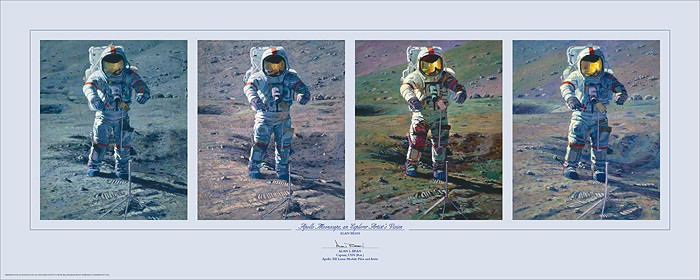 Alan Bean Apollo Moonscape An Explorer Artists Vision Print