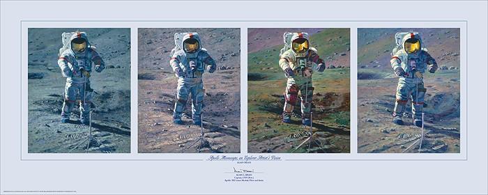 Alan BeanApollo Moonscape An Explorer Artists VisionPrint