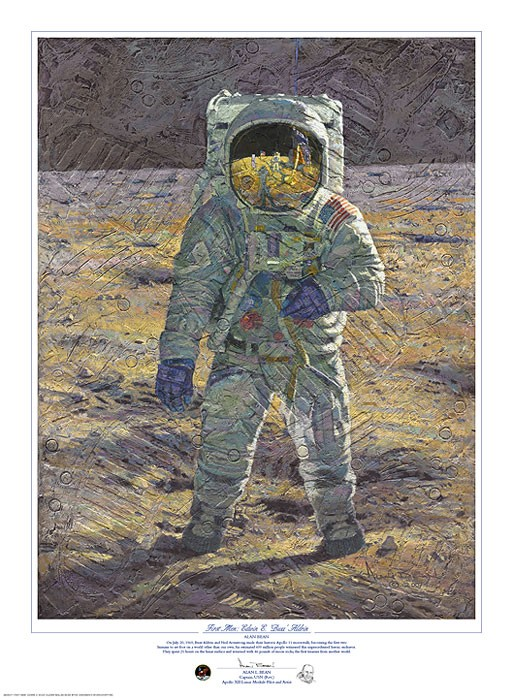 Alan Bean First Men Edwin E. Buzz Aldrin Print