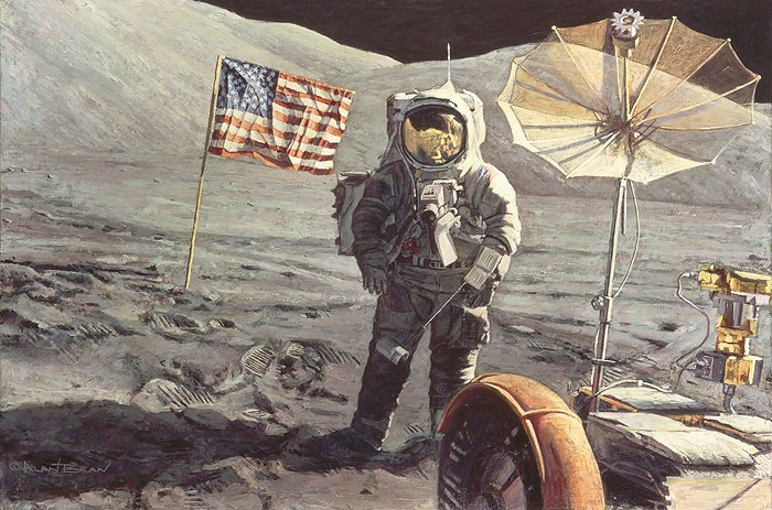 Alan Bean Savoring the Moment Canvas