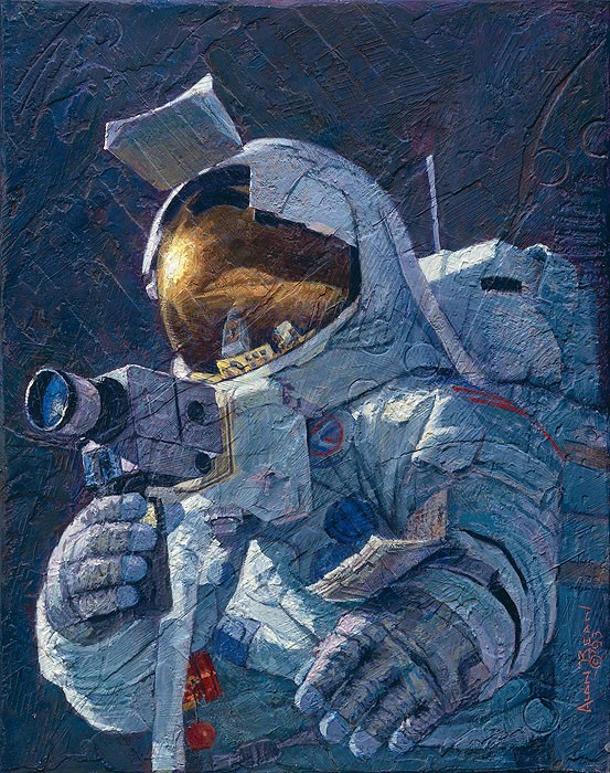 Alan Bean My Brother Jim Irwin Canvas