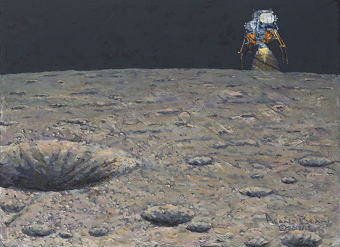 Alan Bean Armstrong Heads Beyond the Boulders Giclee On Canvas