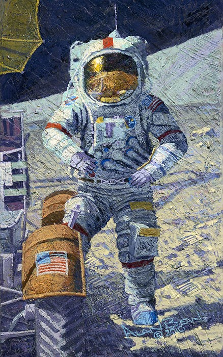 Alan Bean Getting Ready to Ride Giclee On Canvas