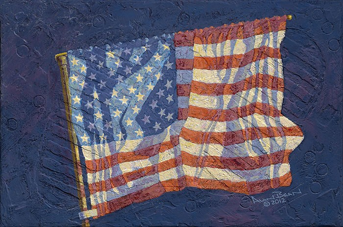 Alan Bean First Flag Giclee On Canvas