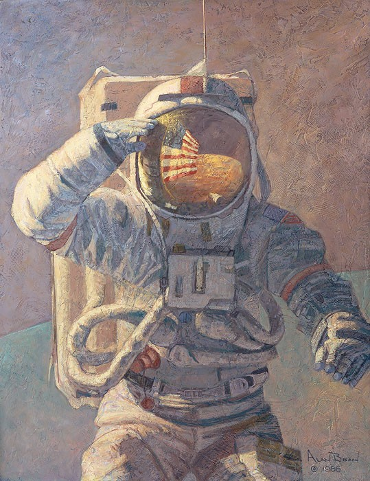 Alan Bean Our Own Personal Spaceships Giclee On Canvas
