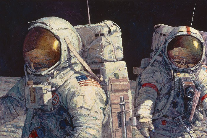Alan Bean Conquistadors Giclee On Canvas