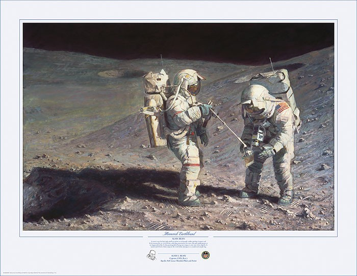 Alan Bean Moonrock-Earthbound Lithograph