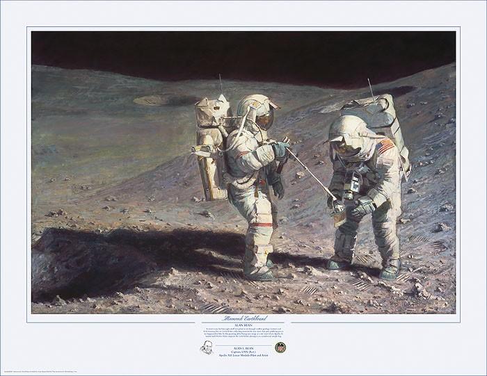 Alan BeanMoonrock-EarthboundLithograph