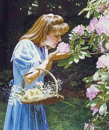 Tom SierakA Breath Of Spring Canvas Giclee