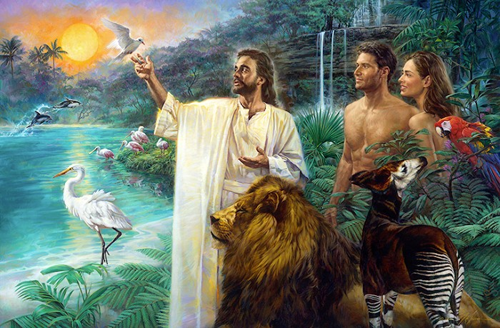 Nathan Greene The First Sabbath In Eden Studio Canvas Giclee