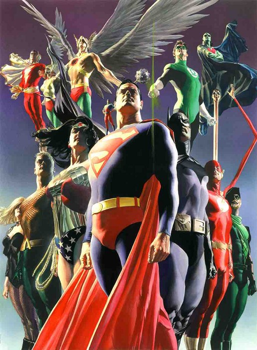 Alex Ross JLA Secret Origins Giclee On Canvas