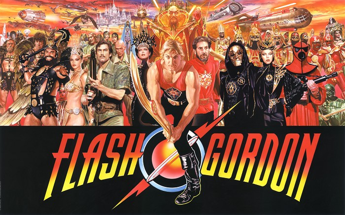 Alex Ross Flash Gordon Magnificent 7 Series Giclee On Canvas Artist Proof