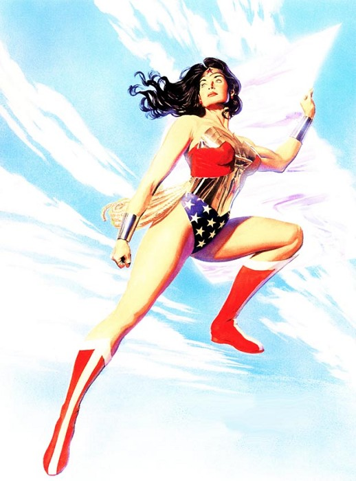 Alex Ross PRINCESS OF THE AMAZONS Giclee On Canvas Artist Proof