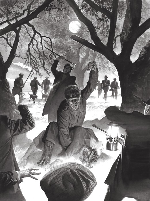 Alex Ross Universal Monsters The Wolf Man Giclee On Canvas Artist Proof