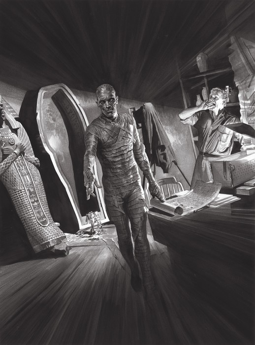 Alex Ross Universal Monsters Mummy Giclee On Canvas Artist Proof