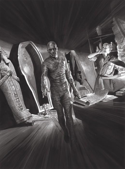 Alex RossUniversal Monsters MummyGiclee On Canvas Artist Proof
