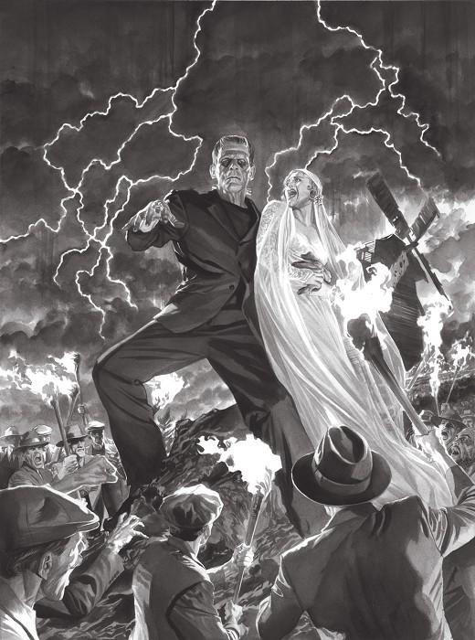 Alex RossUniversal Monsters FrankensteinGiclee On Canvas Artist Proof