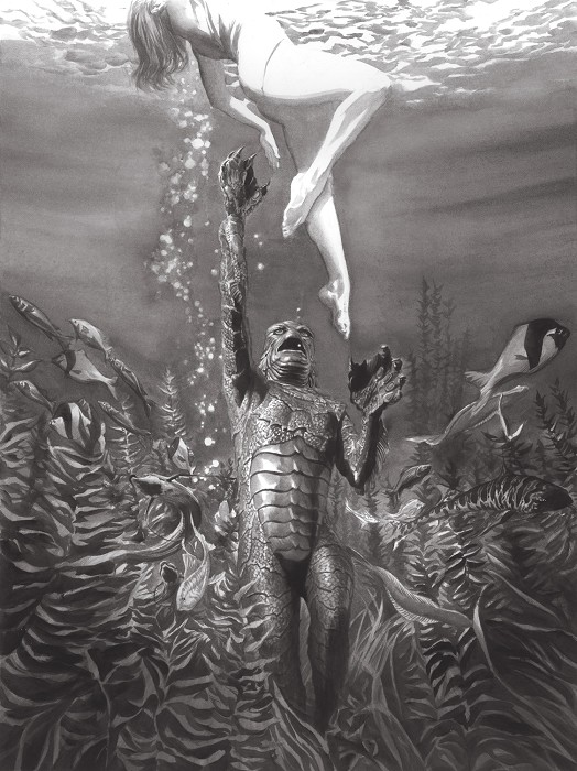 Alex Ross Universal Monsters Creature from the Black Lagoon Giclee On Canvas Artist Proof