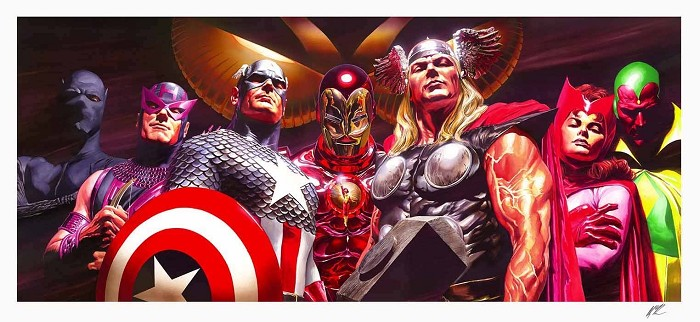 Alex Ross Avengers Assemble Artist Proof No 10 Lithograph