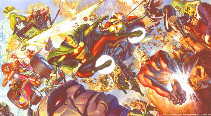 Alex Ross New Gods Magnificent Seven Giclee On Canvas Artist Proof