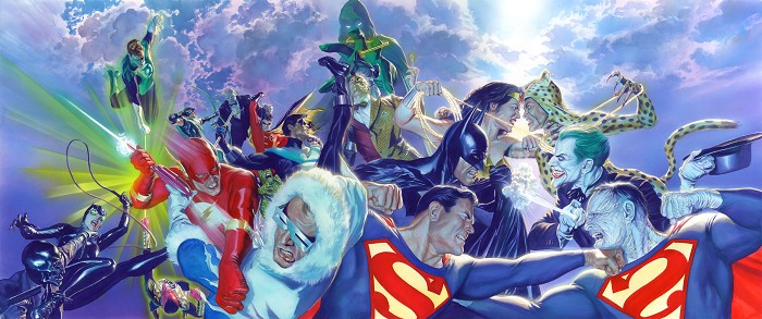Alex Ross CLASH DLX Giclee On Canvas