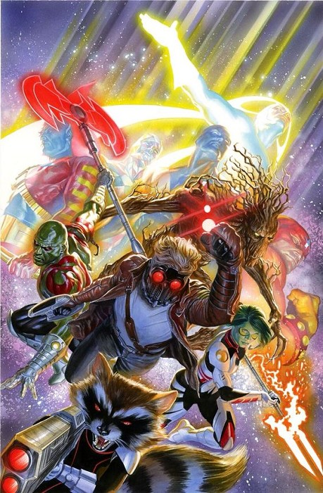 Alex Ross Guardians of the Galaxy Giclee On Canvas