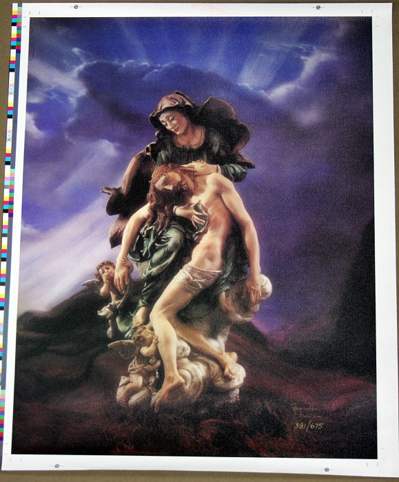 Giuseppe ArmaniLa Pieta Canvas Transfer