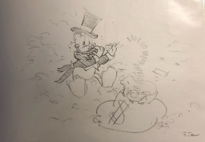 Giuseppe ArmaniOriginal Concept Art for Disneyana Convention Uncle Scrooge