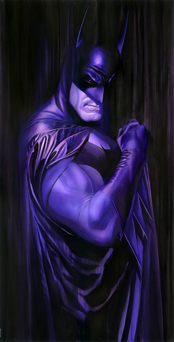 Alex Ross SHADOWS: BATMAN Giclee On Canvas Artist Proof