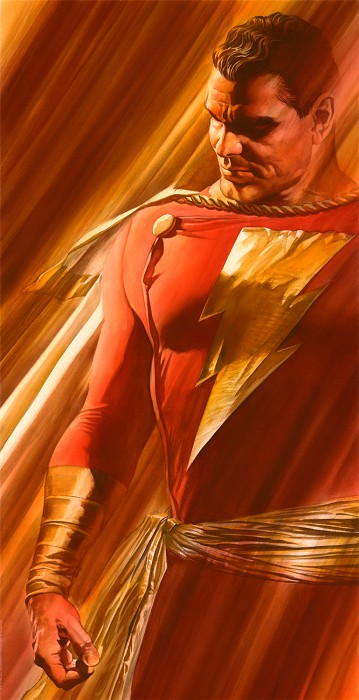 Alex Ross SHADOWS SHAZAM Giclee On Paper