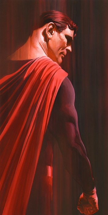 Alex Ross SHADOWS: SUPERMAN Giclee On Canvas Artist Proof