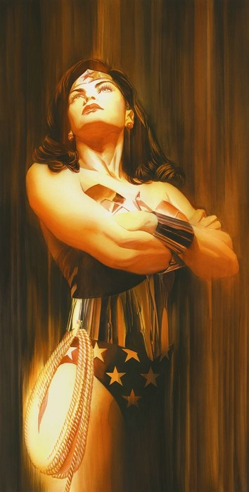 Alex Ross SHADOWS WONDER WOMAN Giclee On Paper