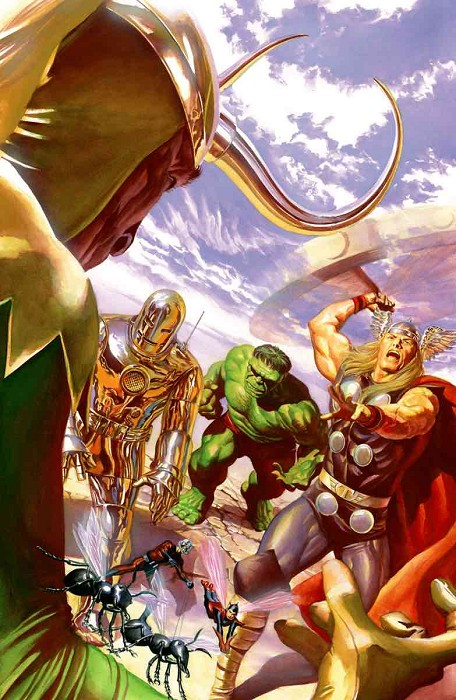 Alex Ross Avengers Number One Variant Cover Giclee On Canvas