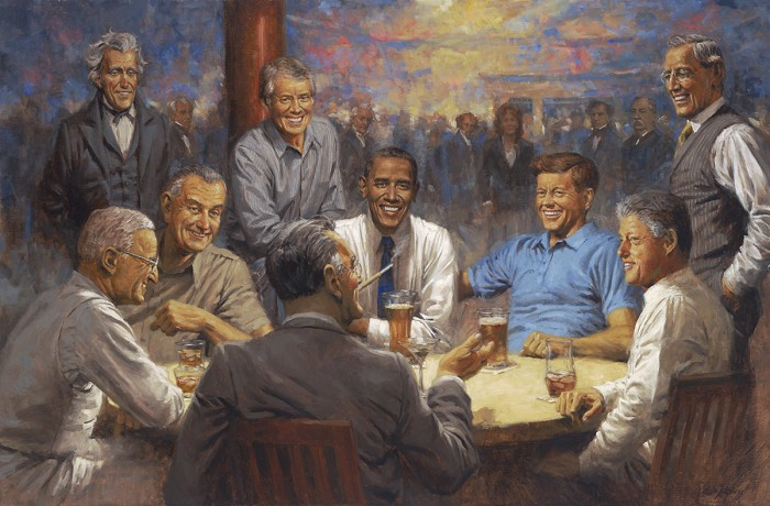 Andy Thomas The Democratic Club Giclee On Canvas