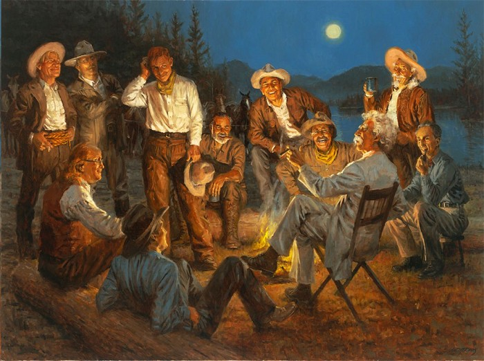 Andy Thomas American Storytellers Giclee On Canvas Artist Proof