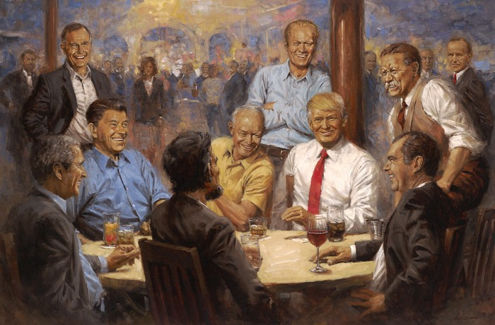 Andy Thomas THE REPUBLICAN CLUB Giclee On Canvas
