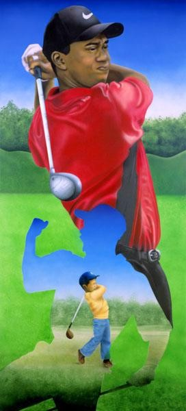 Terry Wilson Tiger Woods Giclee